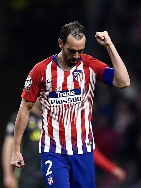Diego Godín, zagueiro do Atlético de Madri e capitão da seleção uruguaia - Oscar del Pozo/AFP