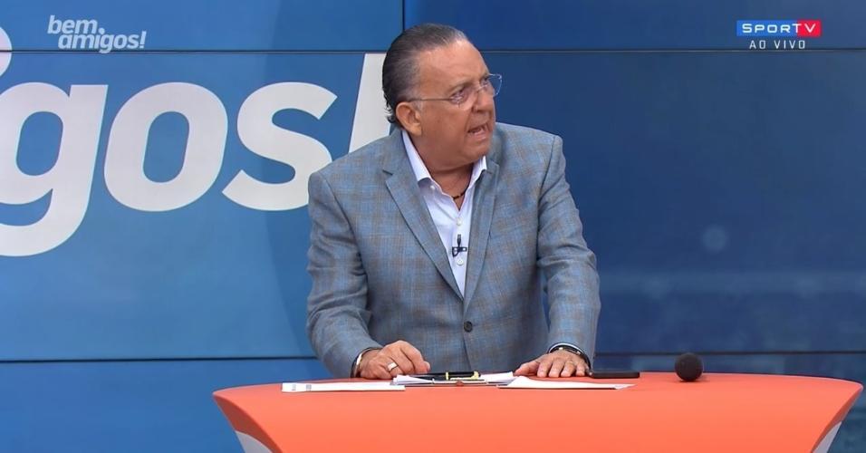 Galvão Bueno, durante edição do Bem, Amigos