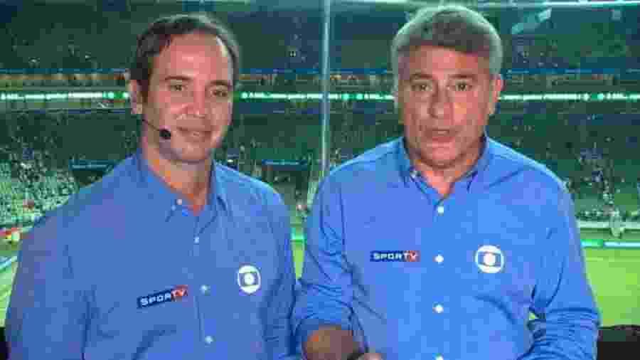 Caio estará ao lado de Clerber Machado, domingo, na final do mundial feminino na Globo - Reprodução