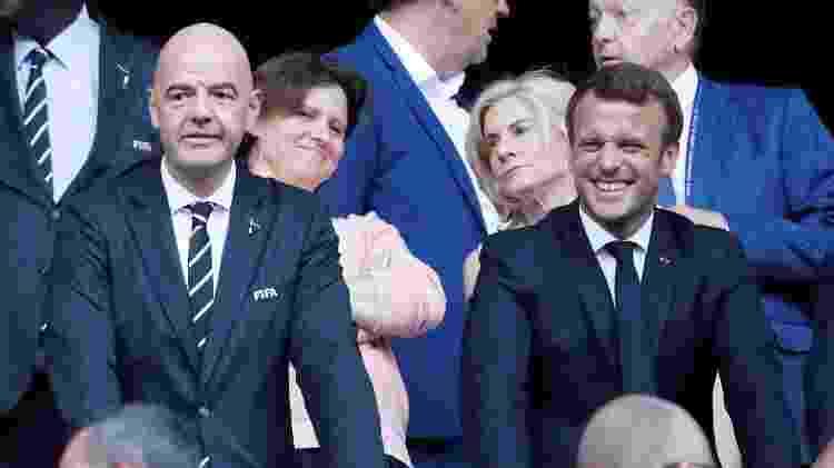 Macron e Infantino - Bernadett Szabo/Reuters - Bernadett Szabo/Reuters