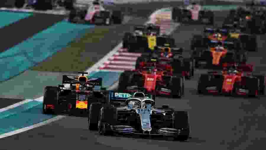 Lewis Hamilton venceu o GP de Abu Dhabi  - Charles Coates/Getty Images