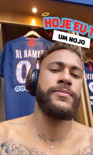 Neymar posta story antes de partida do PSG