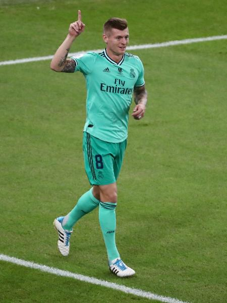 Kroos comemora gol do Real Madrid contra o Valencia - REUTERS/Sergio Perez