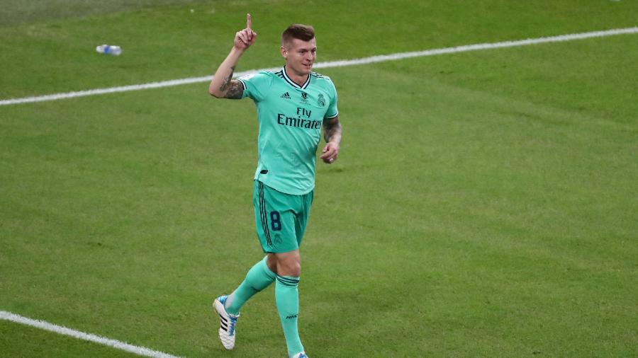 Kroos comemorando gol do Real Madrid - REUTERS/Sergio Perez