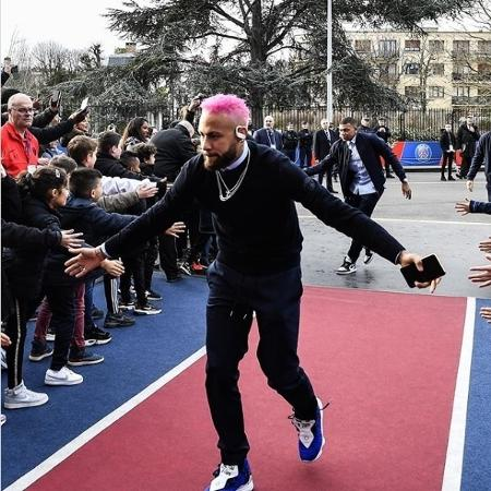 01.fev.2020 - Neymar mudou o visual para o jogo do PSG - Reprodução / Instagram
