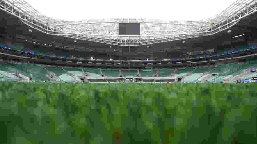 Allianz Parque, estádio do Palmeiras, substituiu a grama natural pelo sintético - Divulgação/Allianz Parque