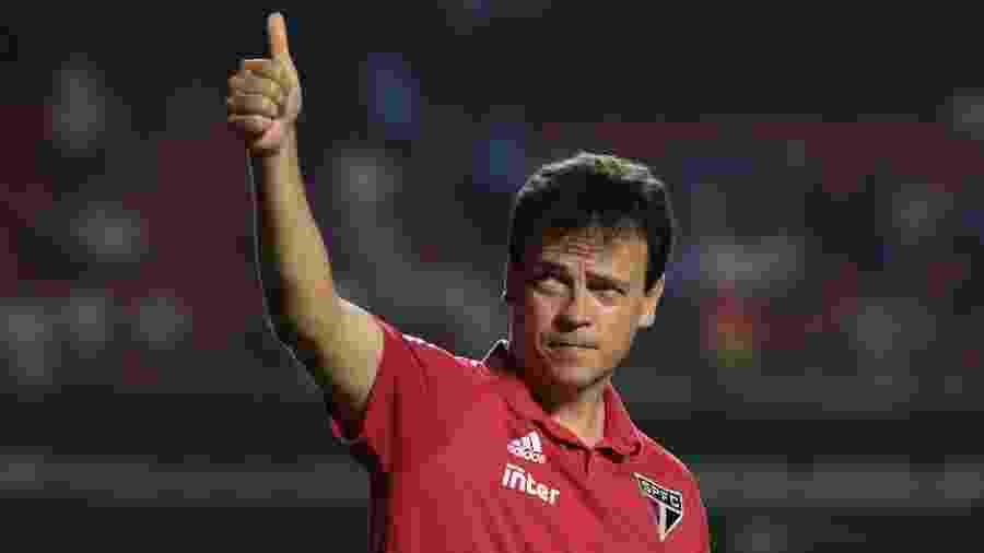 Fernando Diniz comandou o São Paulo em partida contra a LDU pela Copa Libertadores - Marcello Zambrana/AGIF