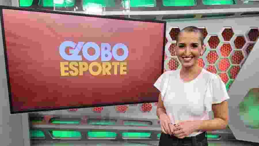 Alice Bastos Neves apresenta o Globo Esporte no Rio Grande do Sul sem peruca e fala sobre o câncer - Reprodução/Twitter