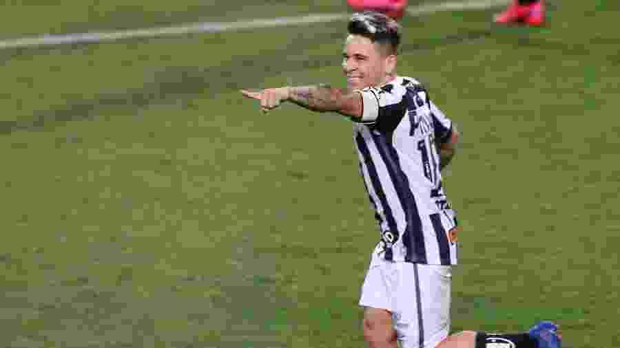 Soteldo comemora gol do Santos contra o Coritiba - GERALDO BUBNIAK/ESTADÃO CONTEÚDO