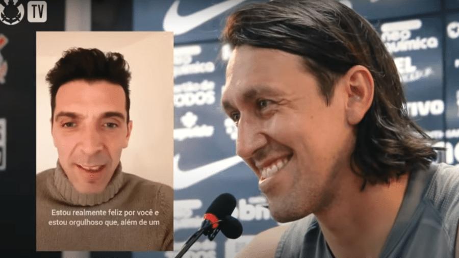 Cássio recebeu mensagem de Buffon - Reprodução/YouTube