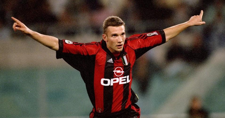 Ucraniano Shevchenko virou ídolo do Milan nos anos 90 e 2000