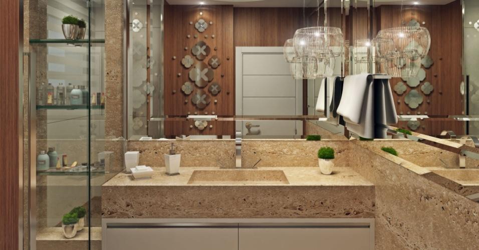 Banheiro de hóspedes da casa