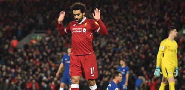 Salah reagiu à decisão da Liga inglesa minutos depois da confirmação do gol para Kane