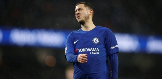 Hazard lamentou a falta de posse de bola do Chelsea durante o jogo contra o City
