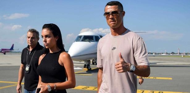 Cristiano Ronaldo em seu desembarque em Turim - Divulgação/Juventus