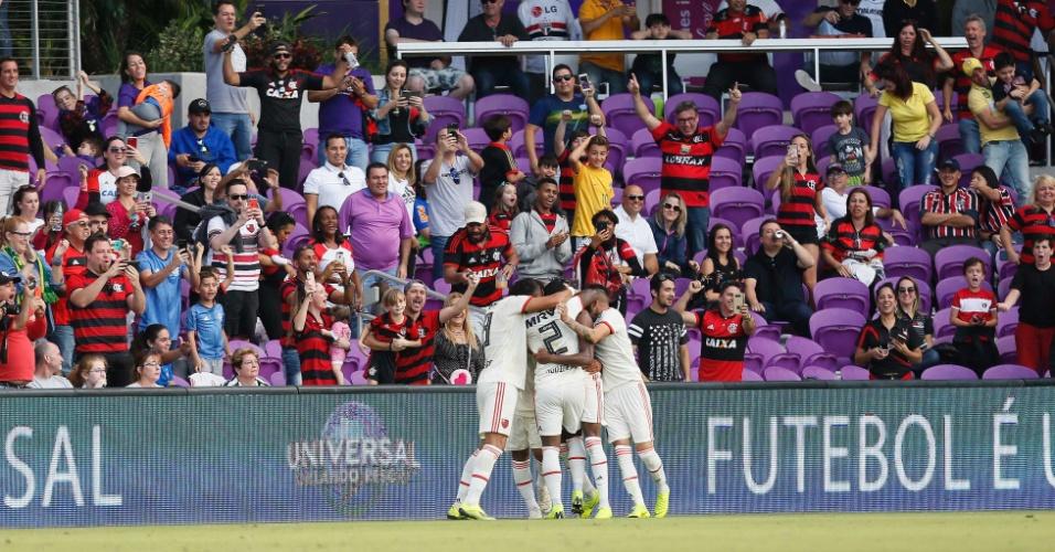 Flamengo comemoração Frankfurt Flórida Cup