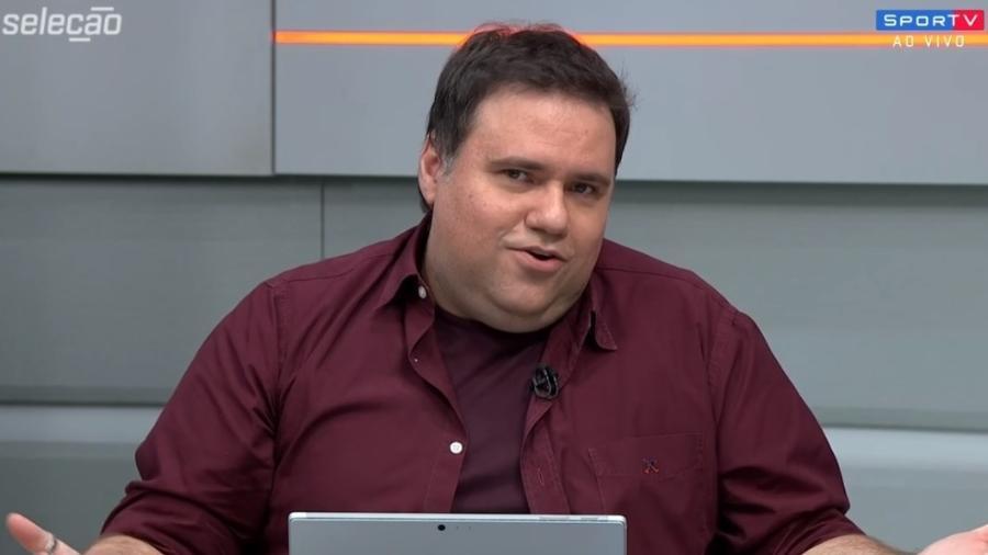Rodrigo Rodrigues é apresentador do Sportv, canal fechado esportivo do Grupo Globo - Reprodução