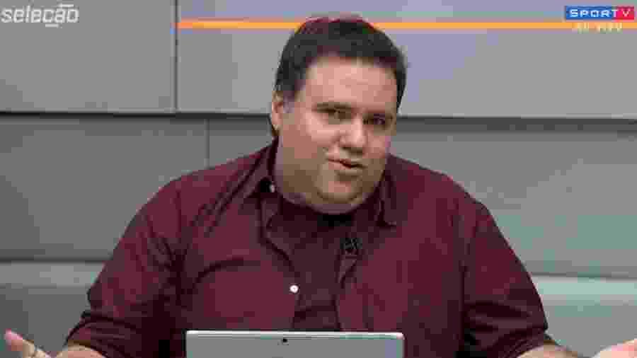 Rodrigo Rodrigues, apresentador do SporTV - Reprodução/SporTV