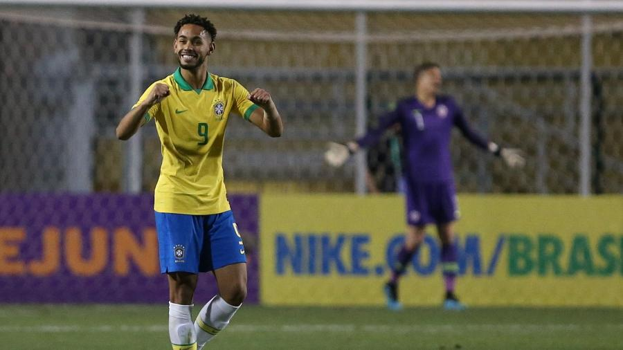 Atacante Matheus Cunha foi destaque do Brasil no pré-olímpico - Marcello Zambrana/AGIF