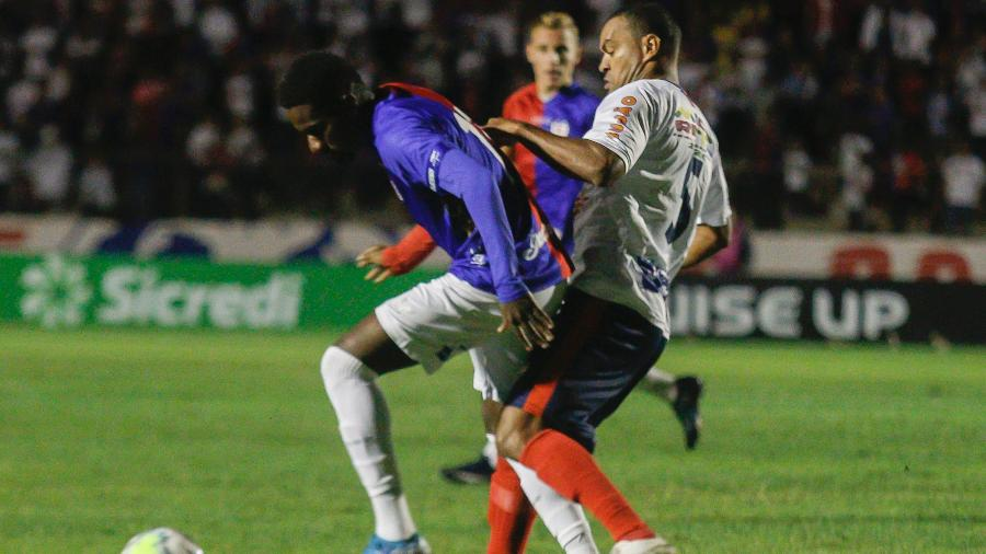 Paraná Clube em ação pela Copa do Brasil  - Gabriel Machado/AGIF