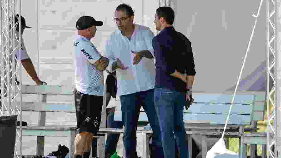 Alexandre Mattos e Jorge Sampaoli em treino do Atlético-MG - Bruno Cantini / Agência Galo