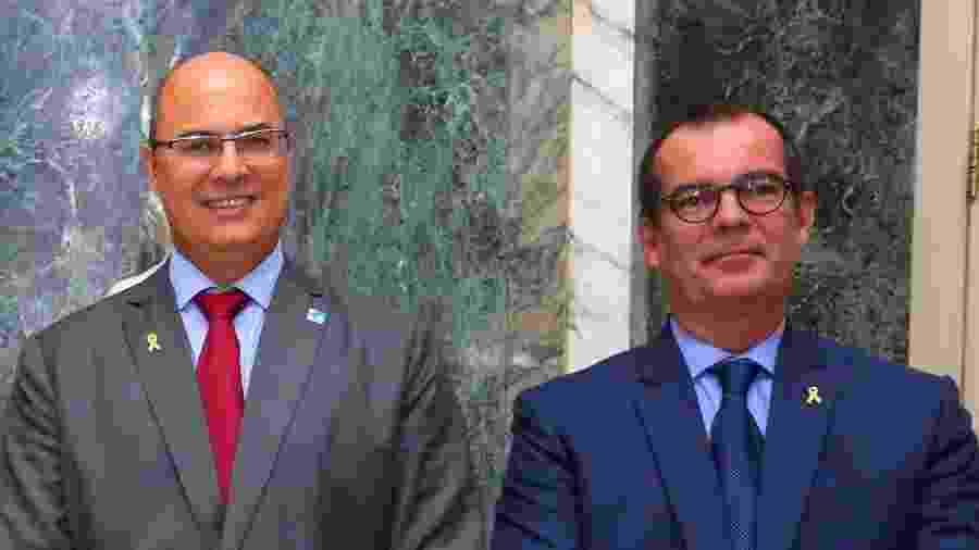 Wilson Witzel com o subsecretário de Relações Institucionais Luiz Carlos das Neves - Philippe Lima/Governo do Estado do Rio de Janeiro