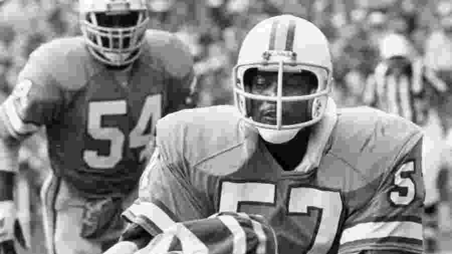 Em melhor momento, Lewis (57) foi finalista da NFC nos playoffs de 1979/1980 - Hugh Jones/Getty Images