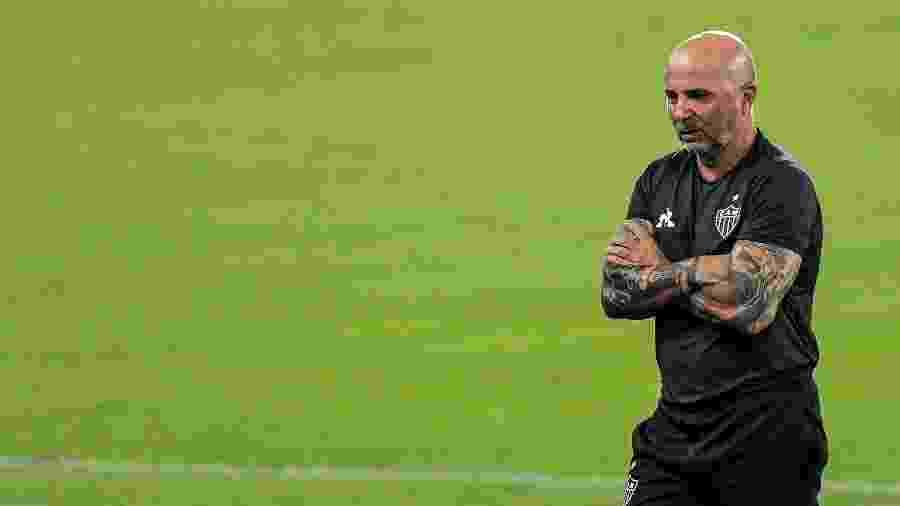 Jorge Sampaoli comanda o Atlético-MG em jogo do Brasileirão 2020 - Thiago Ribeiro/AGIF