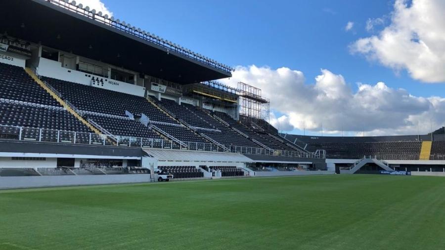Projeto em parceria com a WTorre visa construir um novo estádio no lugar da atual Vila Belmiro - Reprodução