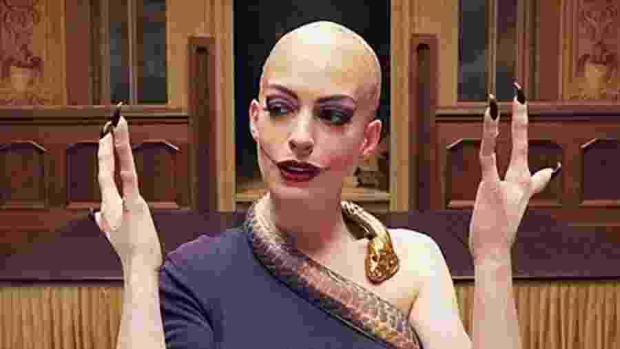 Anne Hathaway no filme Convenção das Bruxas - Reprodução
