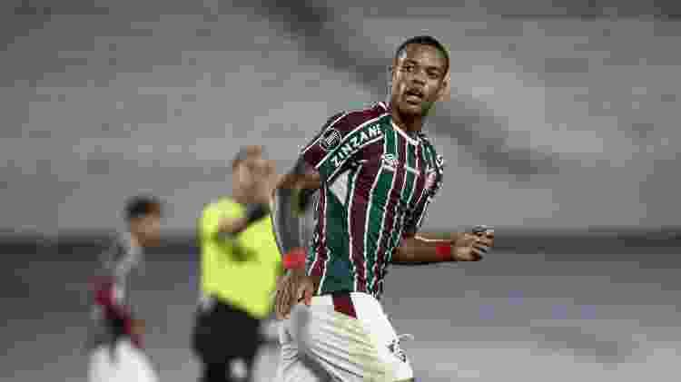 Caio Paulista comemora gol na vitória do Fluminense sobre o River Plate na Libertadores - Lucas Mercon/Fluminense FC - Lucas Mercon/Fluminense FC