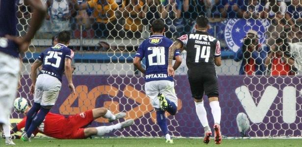 Primeiro pênalti que Victor pegou de Willian foi no clássico Atlético-MG x Cruzeiro