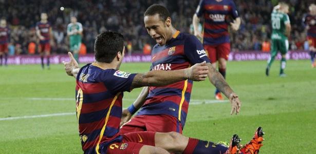 Luis Suárez e Neymar: sintonia dentro e fora de campo
