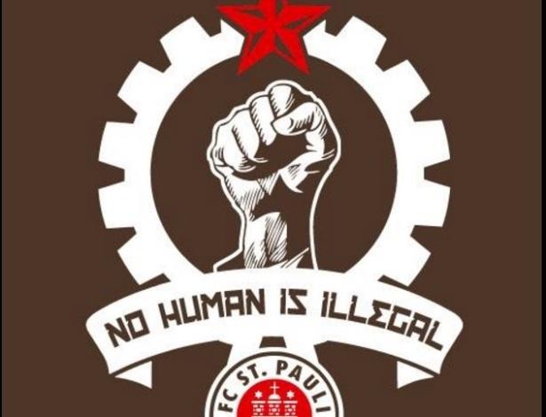 Clube alemão St Pauli lança campanha a favor de refugiados com o slogan 'nenhum humano é ilegal'