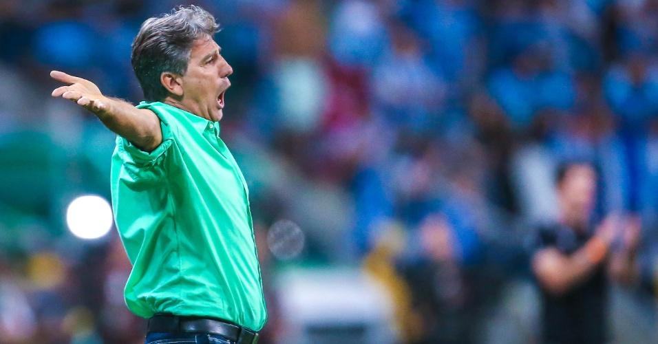 O técnico Renato Gaúcho, do Grêmio, durante a final na Arena Grêmio, em Porto Alegre