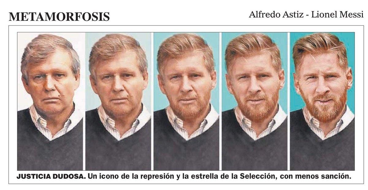 Lionel Messi foi comparado com o torturador Alfredo Astiz