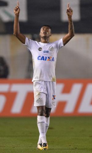 Bruno Henrique do Santos comemora gol marcado contra o Flamengo pela Copa do Brasil