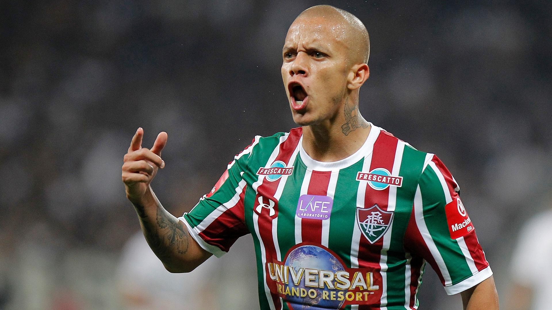 Marcos Júnior, atacante do Fluminense, em lance da partida contra o Corinthians, em Itaquera