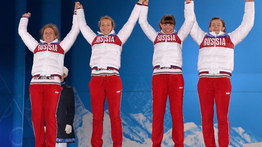 Yana Romanova (à esquerda) e Olga Vilukhina (à direita) foram pegas no doping - Pascal Le Segretain/Getty Images