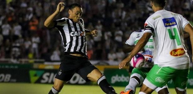 O atacante Ricardo Oliveira na partida entre Uberlândia e Atlético-MG