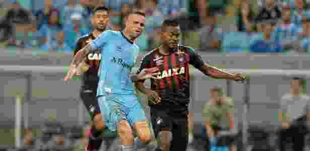 Luan e Nikão disputam a bola: 0 a 0 em Porto Alegre  - Ricardo Rimoli/AGIF
