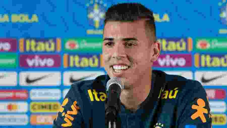 Ivan, goleiro da Ponte Preta, durante entrevista coletiva pela seleção brasileira - Lucas Figueiredo/CBF