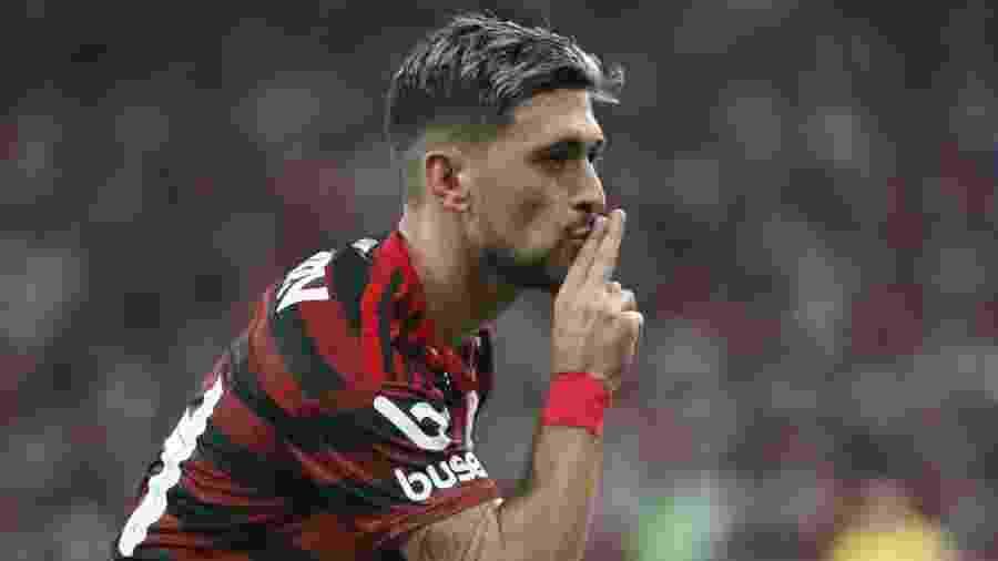 Arrascaeta está de volta ao Flamengo nesta quarta no clássico contra o Vasco no Maracanã - REUTERS/Pilar Olivares