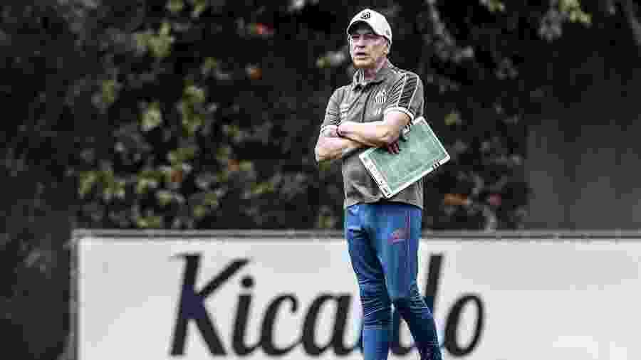 Jesualdo Ferreira comanda treino do Santos no CT Rei Pelé - Ivan Storti/Santos FC