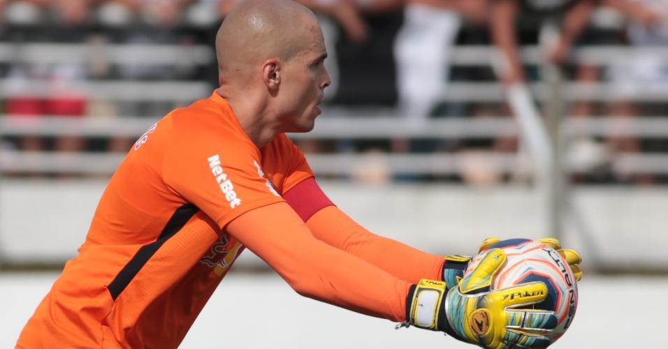 Goleiro Julio Cesar na partida contra o Palmeiras pelo Paulistão