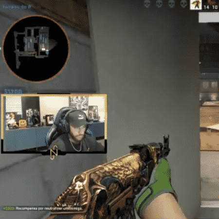 Neymar fez uma live na Twitch jogando Counter Strike: Global Offensive - Reprodução/Twitch