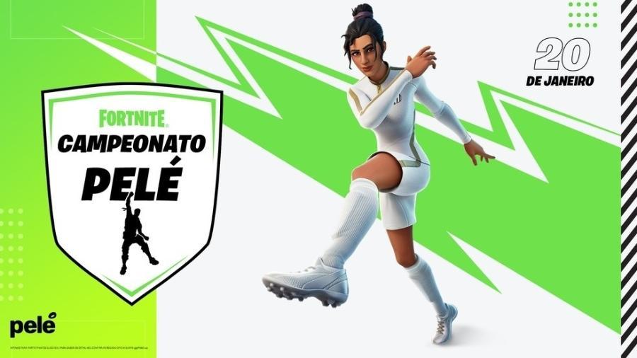 Fortnite lança pacote com celebração de Pelé - Divulgação/Epic Games