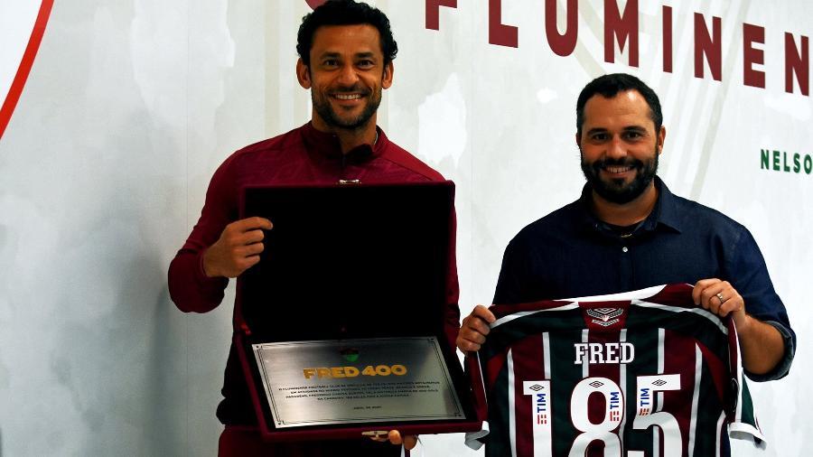 Fluminense homenageia Fred pelos seus 185 gols com a camisa do clube - Mailson Santana/FFC
