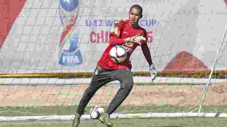 Gabriel Batista, goleiro do Flamengo, no Mundial Sub-17, pela seleção brasileira - Arquivo Pessoal - Arquivo Pessoal