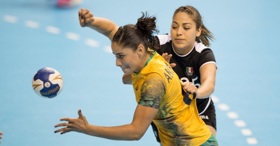 Brasil venceu a seleção do México por 34 a 19 no handebol feminino